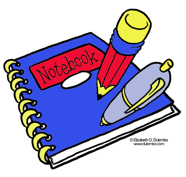 Notebook clipart school notebook Notebook Pages Coloring Clipart Images