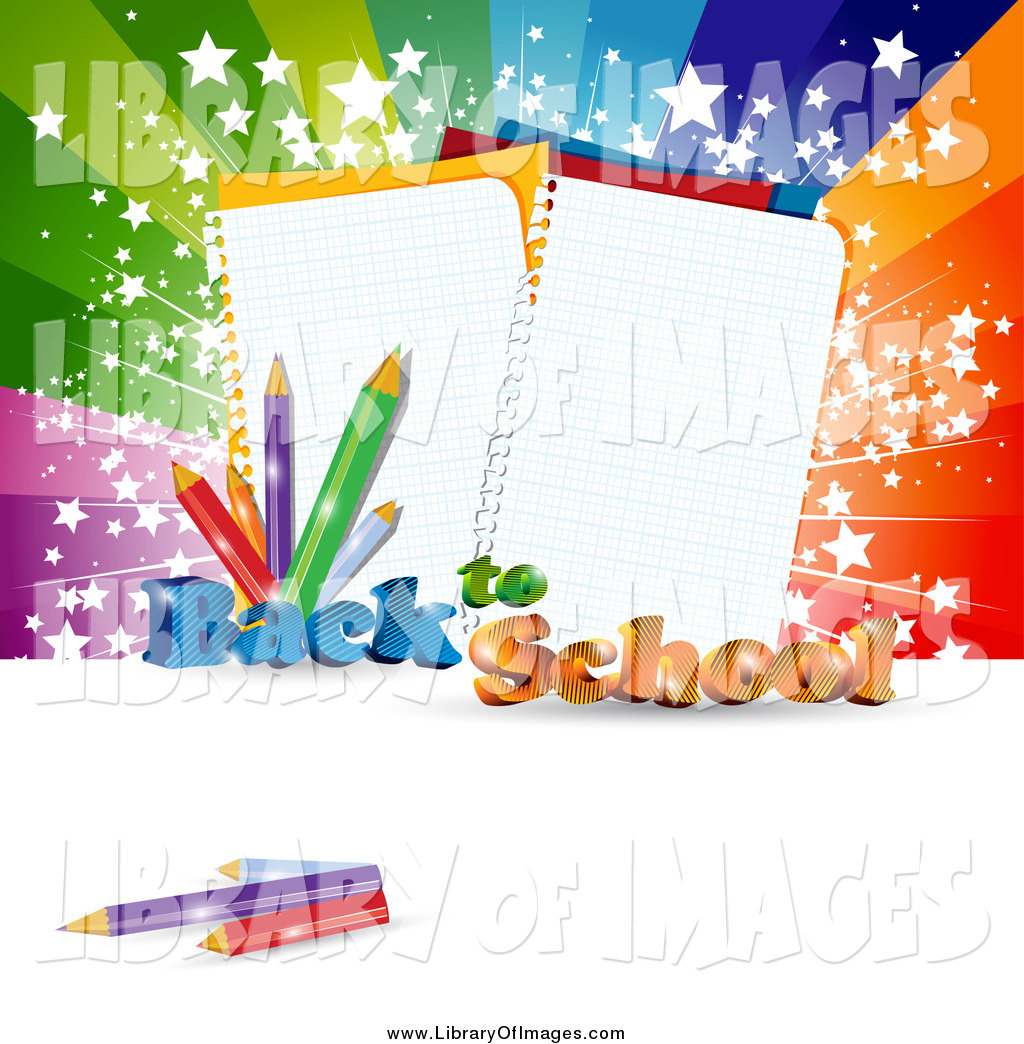 Notebook clipart school notebook Against to Background of Back