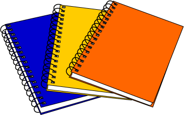 Notebook clipart school notebook Cliparts Notebook Zone Cliparts Clipart