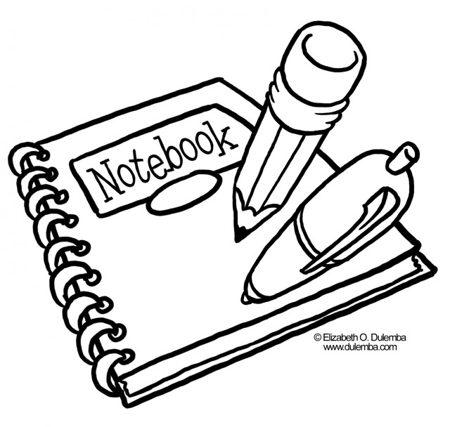 Notebook clipart school supply Supplies Pages Panda Clipart Free