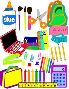Notebook clipart school supply Supplies School School to supplies