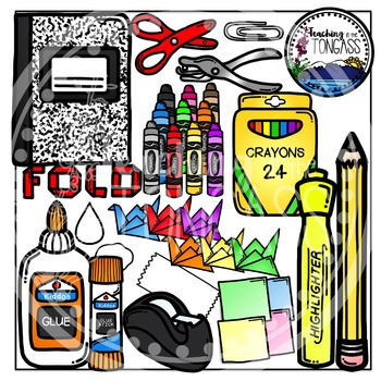 Notebook clipart school supply Clipart Bundle Clipart Interactive Notebook