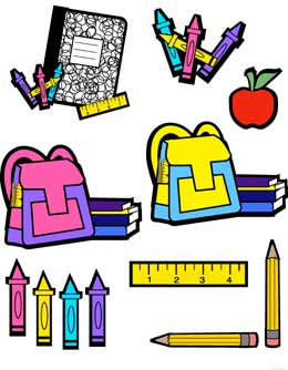 Notebook clipart school supply Clip  School supplies scissors