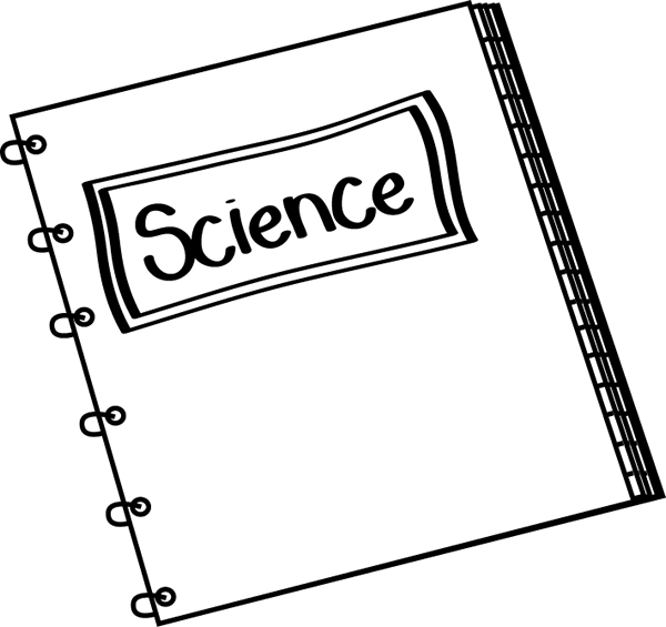 Notebook clipart science notebook And Clip White Black White