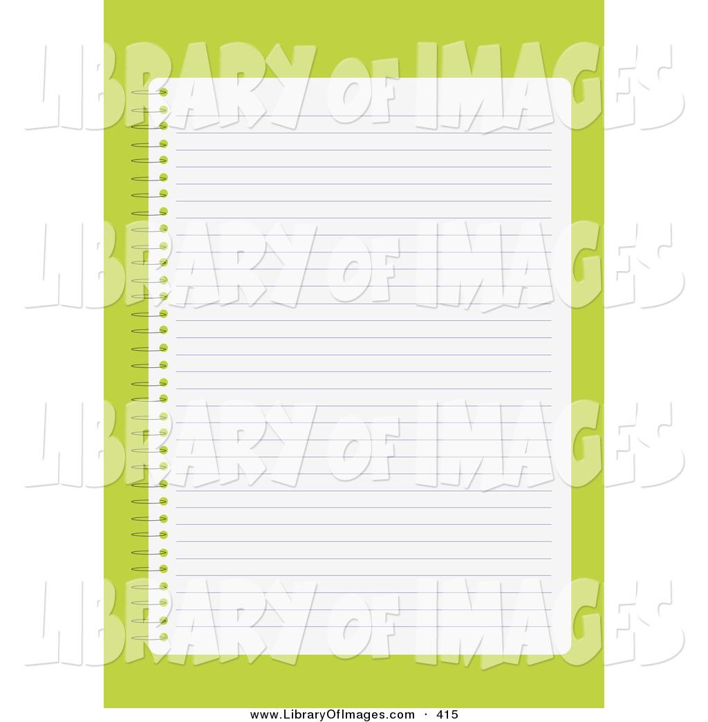 Notebook clipart sheet paper Of of Notebook a Blank