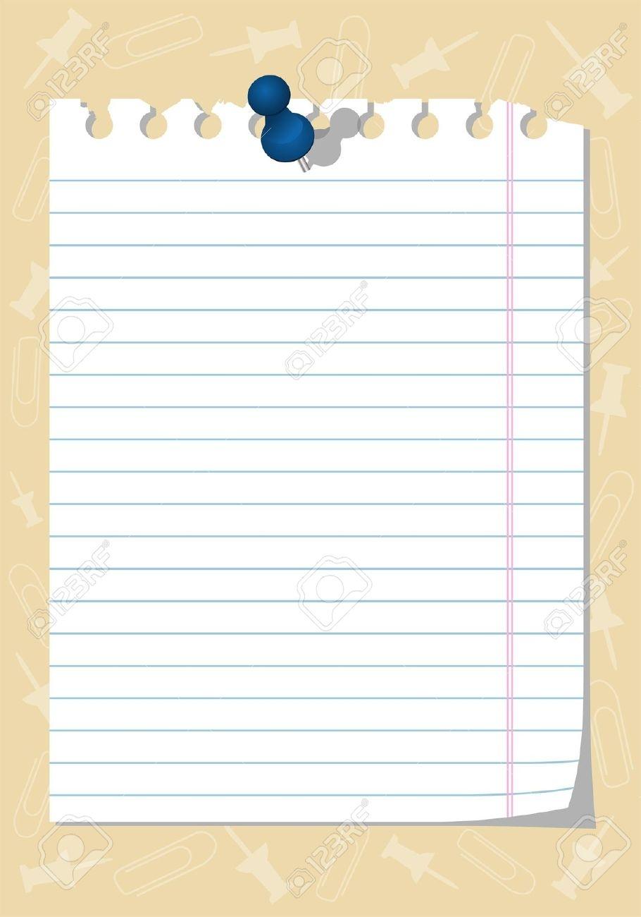 Notebook clipart sheet paper Notebook #1 com Clipart Paper