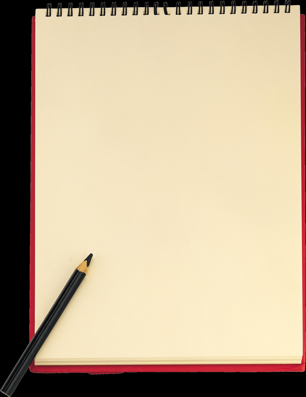 Notebook clipart sheet paper PNG Sheet Sheet Paper Pencil