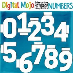 Notebook clipart solid Interactive Numbers Templates Blend Notebook