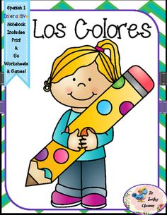 Notebook clipart notebook pencil El y Spanish+1+Los+Colores+ Spanish Notebooks
