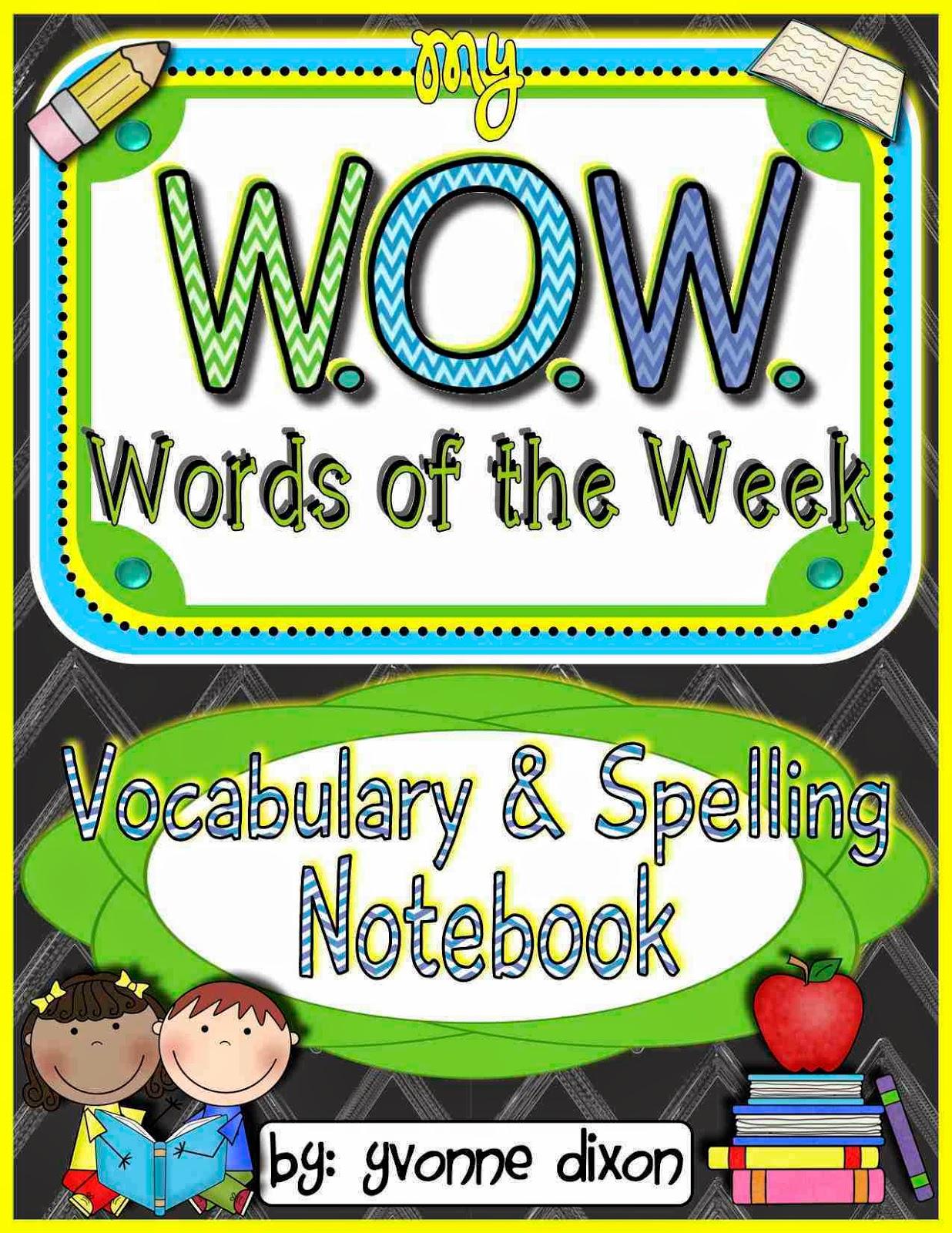 Notebook clipart spelling Teacherspayteachers W W For Words
