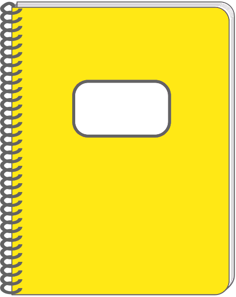 Notebook clipart spiral notebook Clipart Info notebook Panda Free