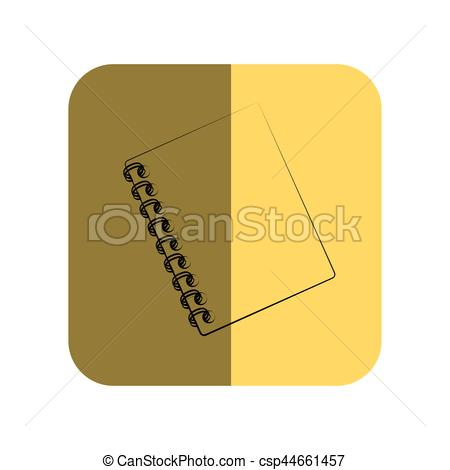Notebook clipart square Spiral of Square Vector Royalty