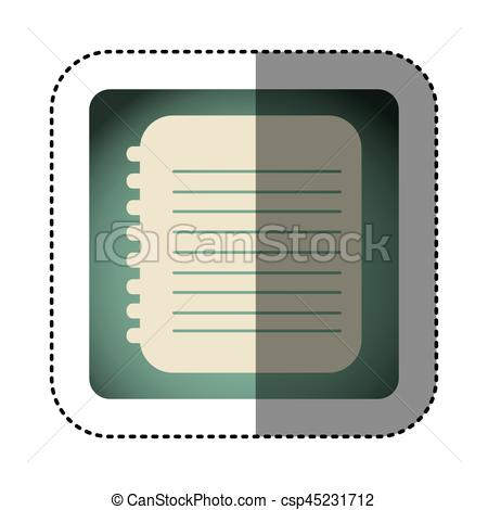 Notebook clipart square With color square notebook with