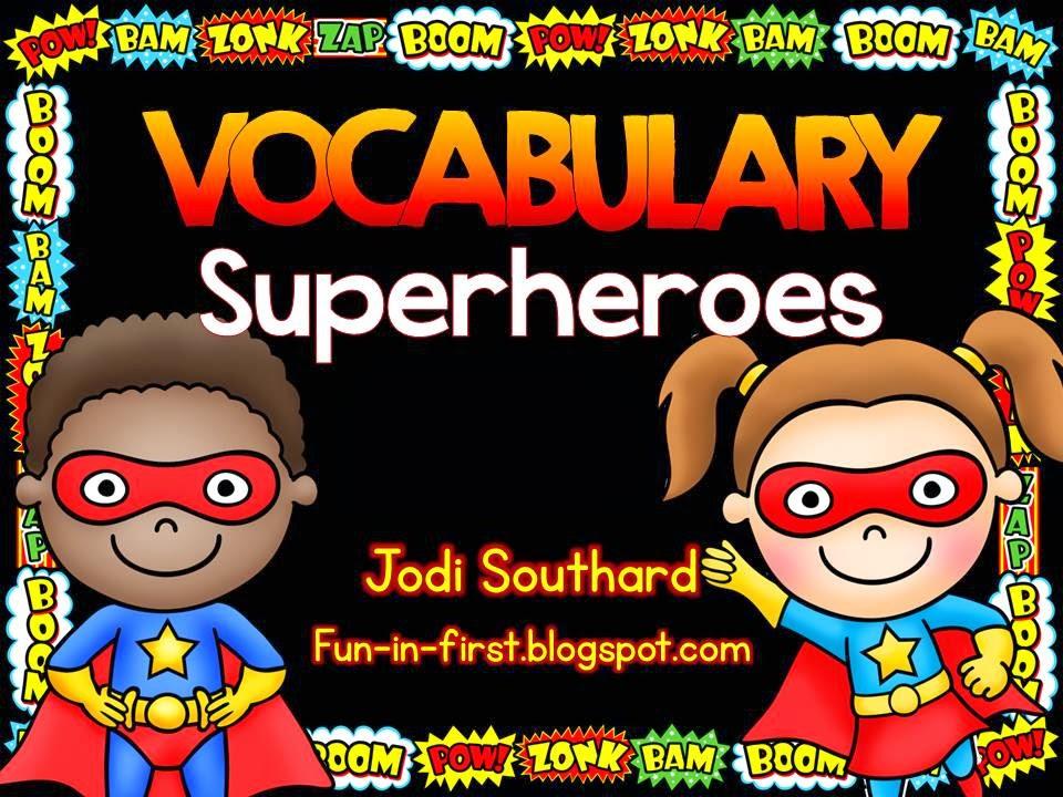 Notebook clipart superhero Superhero First  Fun Vocabulary