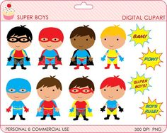 Notebook clipart superhero Digital clipart PNG Clip DigitalBakeShop