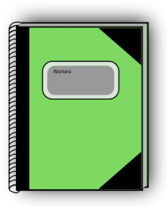 Notebook clipart tabbed Art Ebook 4 Page Clip