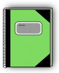 Notebook clipart tabbed Green Notebook Art Clip 4
