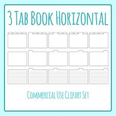 Notebook clipart tabbed Set Clip 4 Subject Tabbed