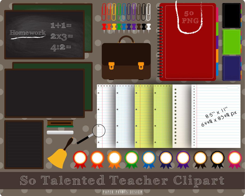 Notebook clipart teacher School to School school PNG