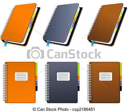 Notebook clipart three In Notebook colors of csp2186481