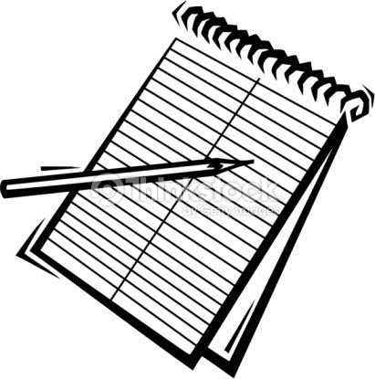 Notebook clipart written note Use keep  for 7