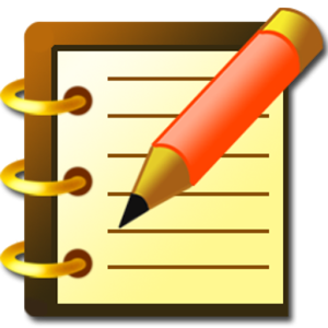 Notebook clipart written note Notes) Notebook Apps Notes) Keep