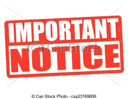 Notice clipart Stamp  csp23169806 Important notice
