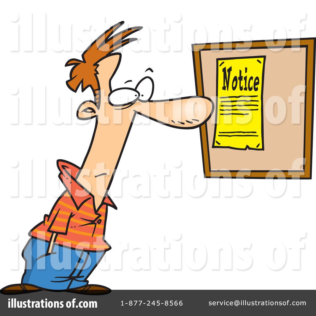 Notice clipart Clipart toonaday Bulletin #438906 Illustration