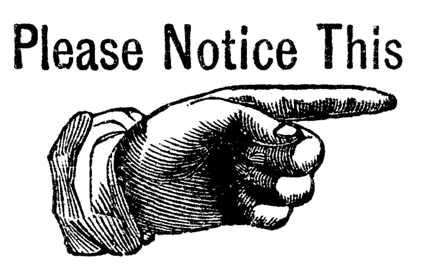 Please clipart sign here Art Clipart Notice Free Free