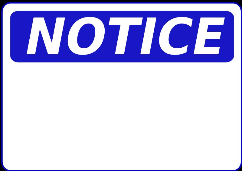 Notice clipart Art Panda notice%20clipart Clip Clipart