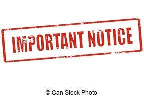Notice clipart Illustration Important Vector Rubber