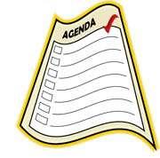 Notice clipart agenda Agenda View Homeowners art clip