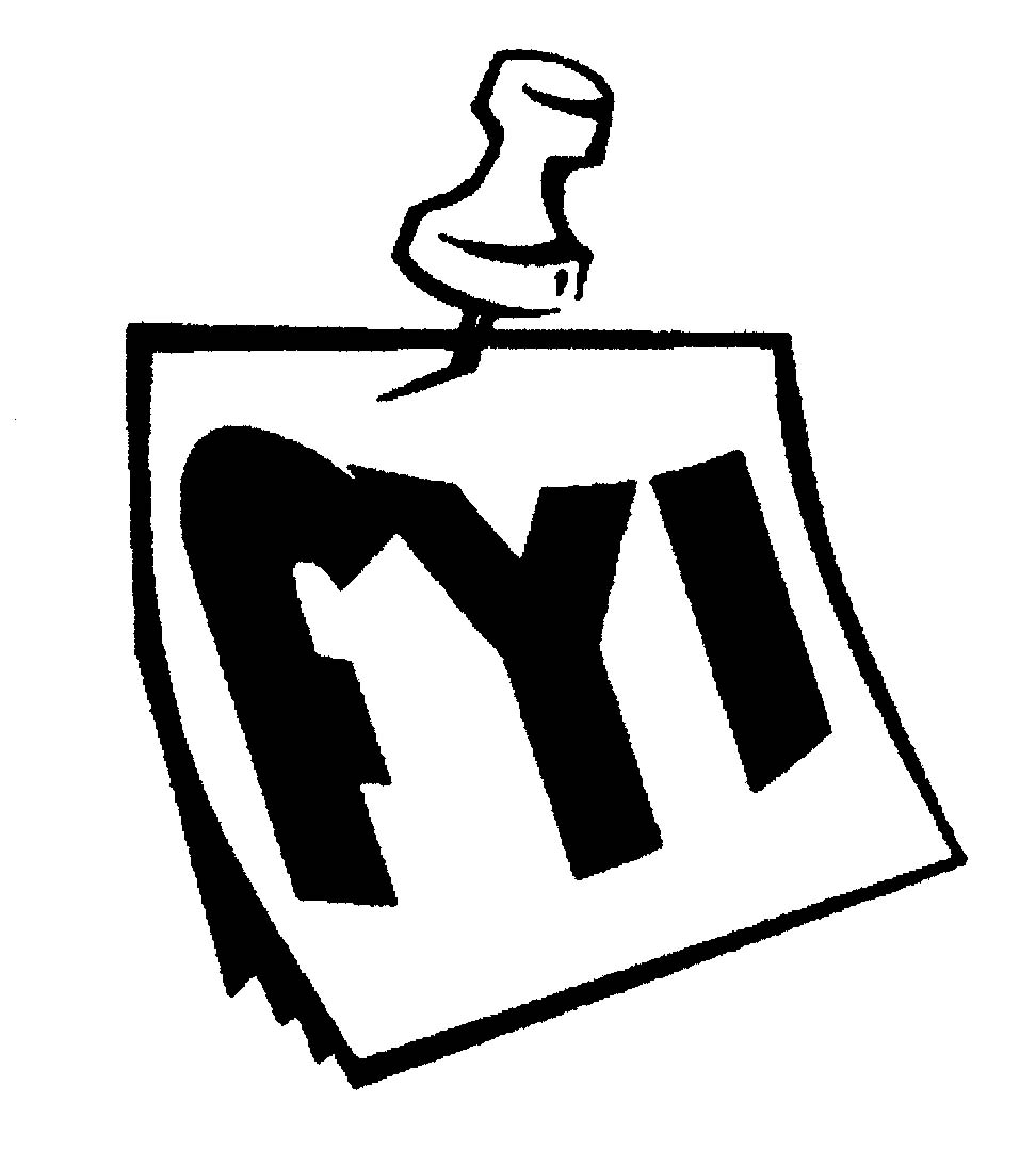 Notice clipart fyi #4