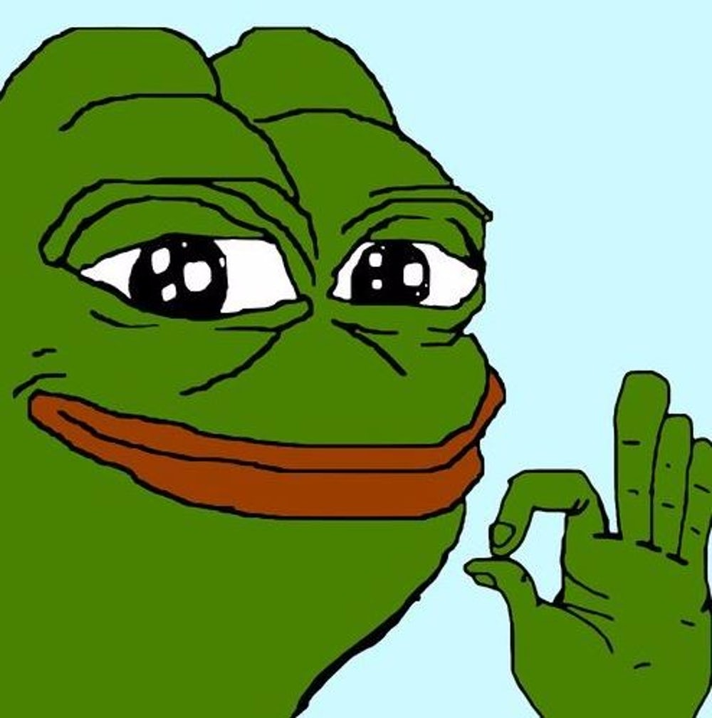 "Notice clipart hand signal Is Pepe"" version Outline sign"