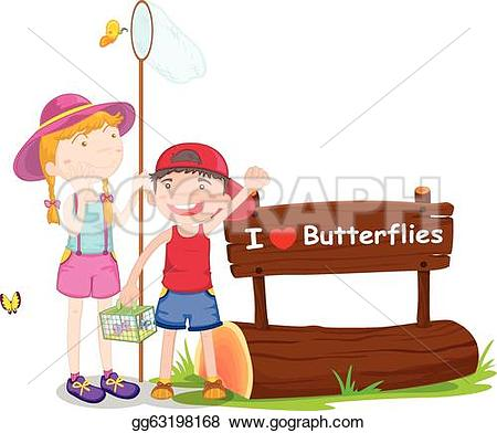 Notice clipart kid And white gg63198168 background a