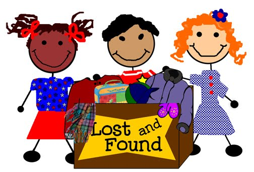 Notice clipart lost and found Found Elementary box LOST &