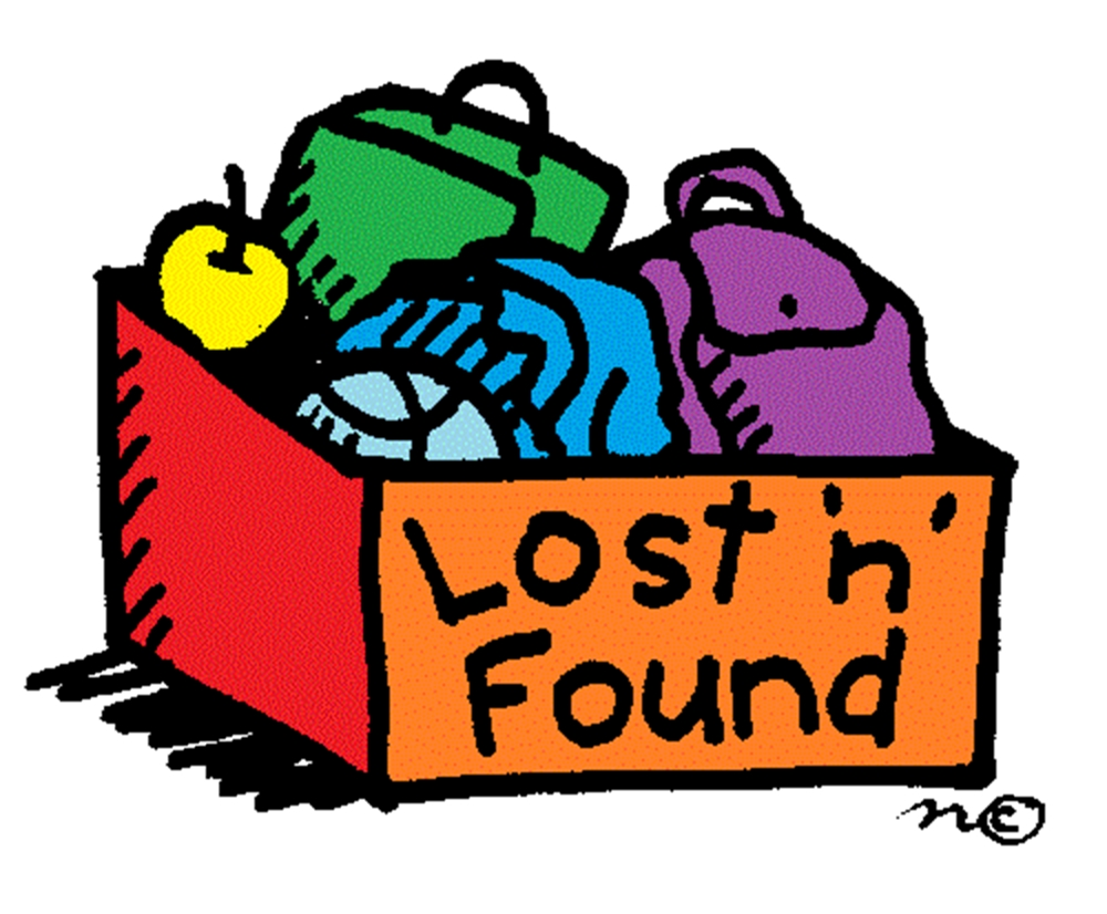 Notice clipart lost and found Deadlines Dept and Graduate Dates