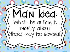 Notice clipart main idea Topic Details Main 10 Main