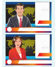 Notice clipart newscaster #3