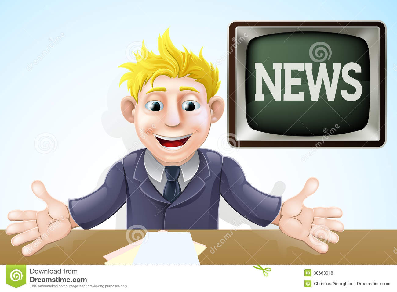 Notice clipart newscaster #10