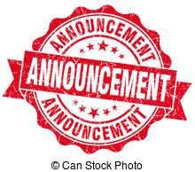 Notice clipart special announcement #8