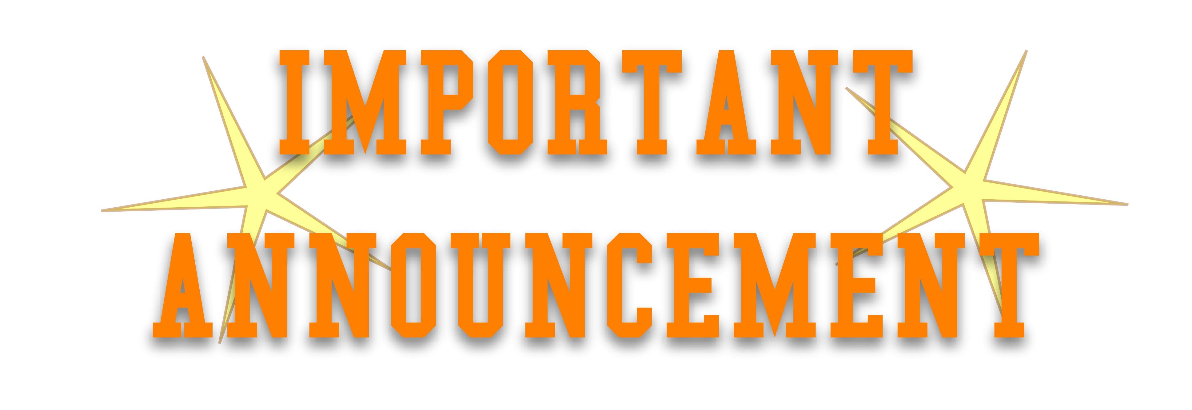 Notice clipart special announcement #11
