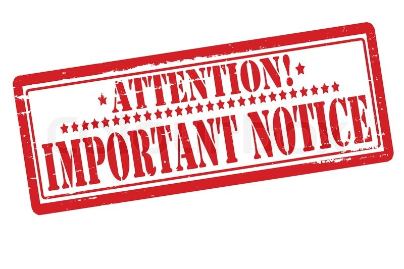 Notice clipart urgent Is Pass Sani Report Pass