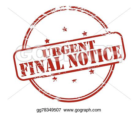 Notice clipart urgent With stamp Rubber Illustration final