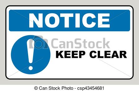 Notice clipart warning Vector Warning Clear Vector Clear