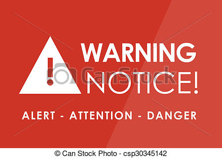 Notice clipart warning Of  Illustration white Stock