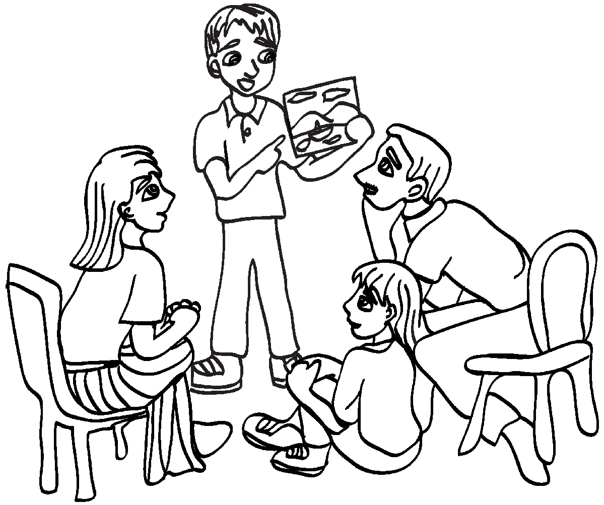 Larger clipart black and white Collection Nuclear family white family
