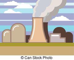 Toxic clipart nuclear power plant Power Plant Vector Art Illustration