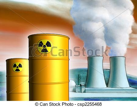 Toxic clipart radioactive pollution Radioactive Illustration waste a waste