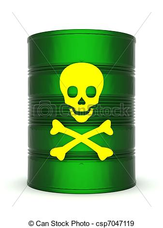 Toxic clipart barrel Of Illustration Illustration with